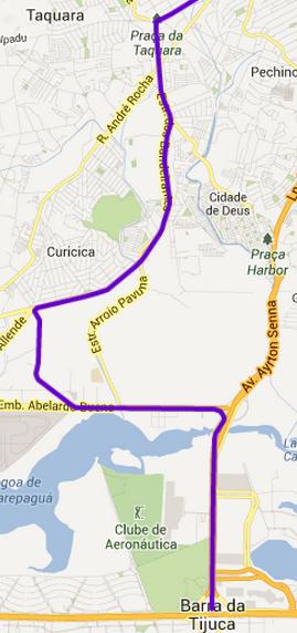 BRT Barra, Jacarepaguá, Curicica e Taquara