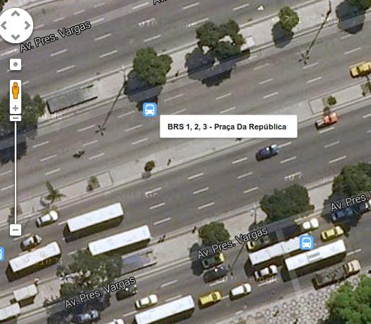 BRS sendo indicado na Avenida Presidente Vargas