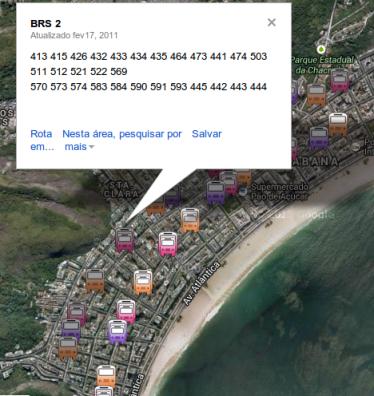 disponível no Google Maps