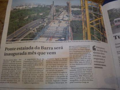 Ponte estaiada da Barra será inaugurada mês que vem
