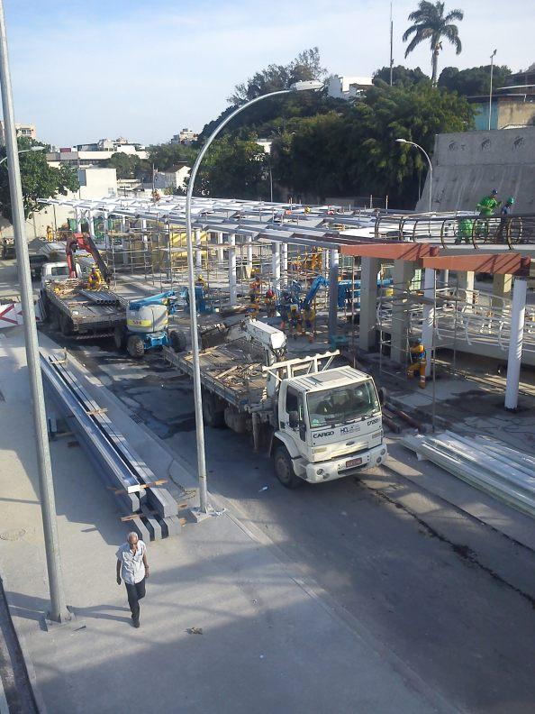 Futuro Terminal da Taquara, faltando 10 dias para o início da operação,