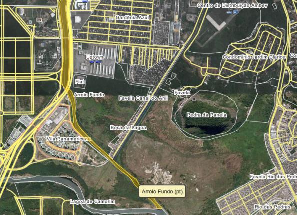Arroio Pavuna e Canal do Anil. Possível alternativa para sair dos bairros Anil e Gardênia