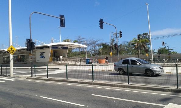 Rio II bicicletário no BRT